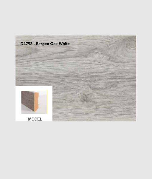 Plint bergen oak white